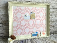 Bulletin board framed magnetic board shabby by