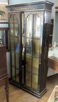Black China Cabinet Mid Century China Cabinet Painted China