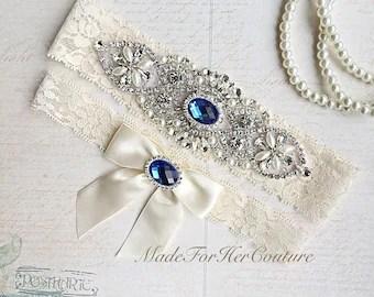 Royal Blue Garter Etsy