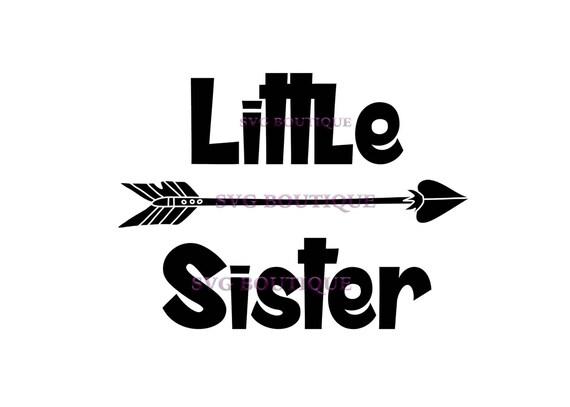 Items similar to Little Sister SVG, Big Sister SVG, Arrow