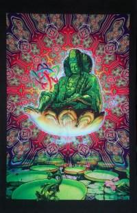 Trippy wall art 'Maitreya'. Trippy wall hanging