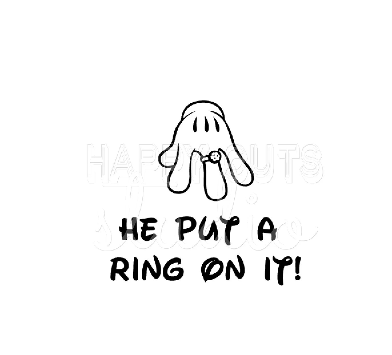 He Put A Ring On It / Bride Just Married Wedding Couples