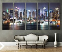 New York Cityscape Canvas Print Wall Art Multi Panel by ...