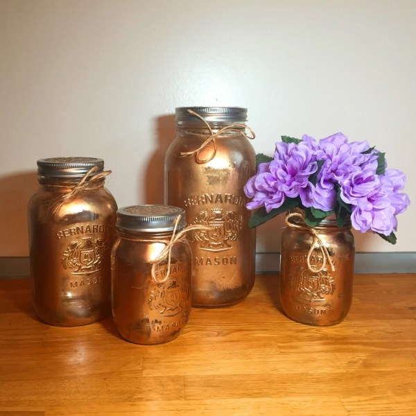 mason jar canister set kitchen Gold mason jar kitchen canister set mason jar decor kitchen