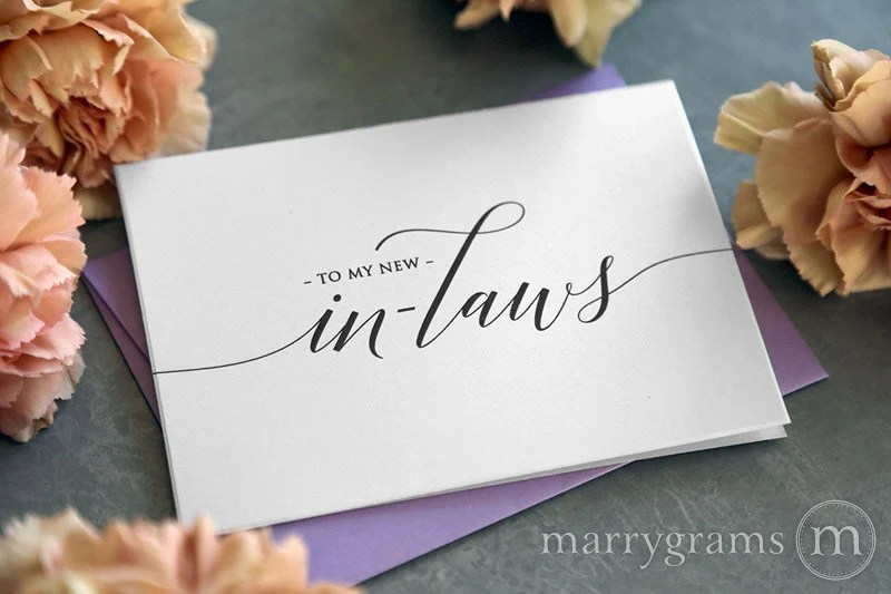 Wedding Card To Your New Mother And Father In-Law Inlaws