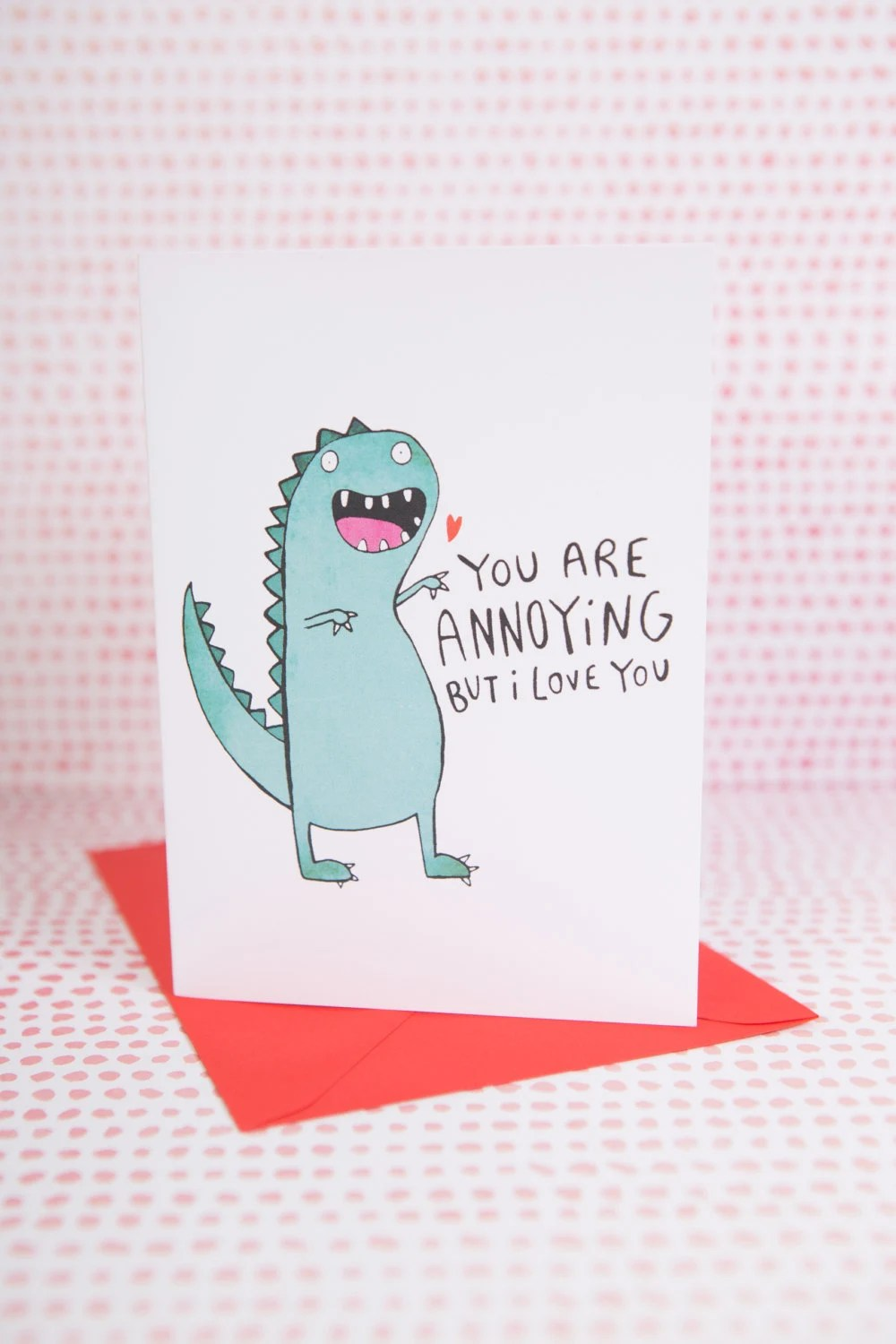 Annoying Dinosaur Greeting Card Mothers Day Anniversary
