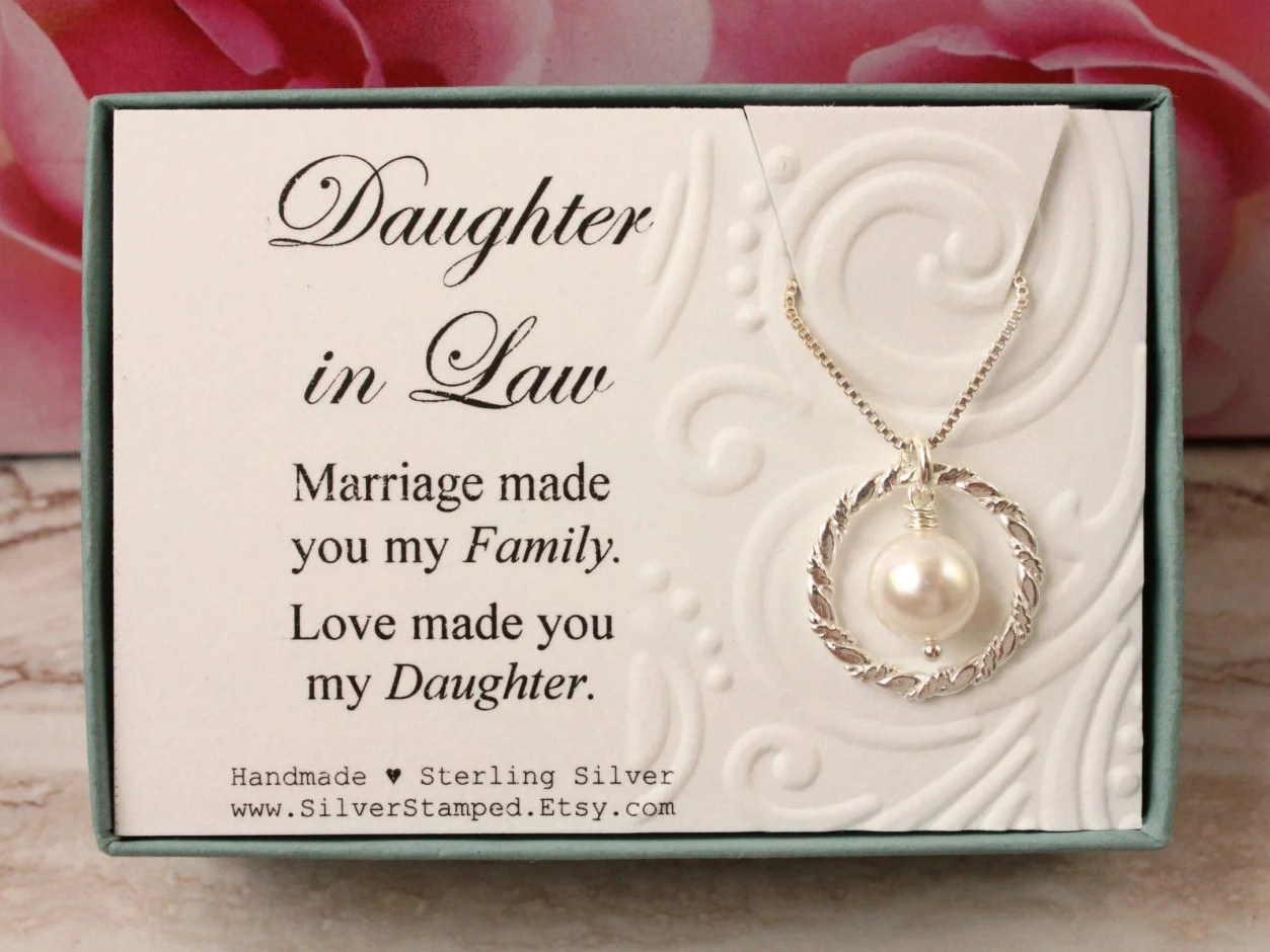 Daughter In Law Gift From Mother In Law Sterling Silver