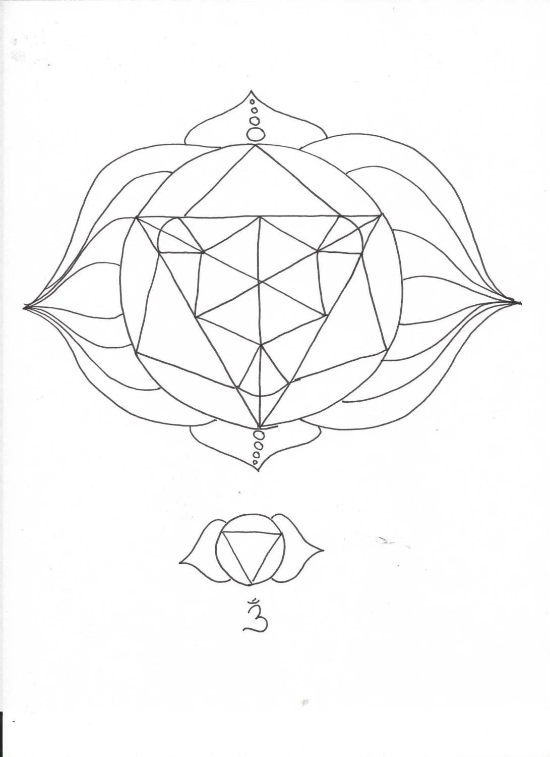 Third Eye Chakra Elemental Mandala Adult Coloring Page