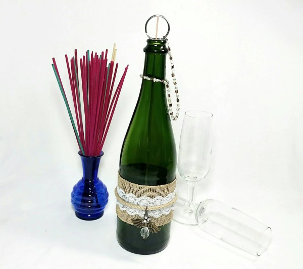 Upcycled Champagne Bottle Incense Burner Mess Recycled