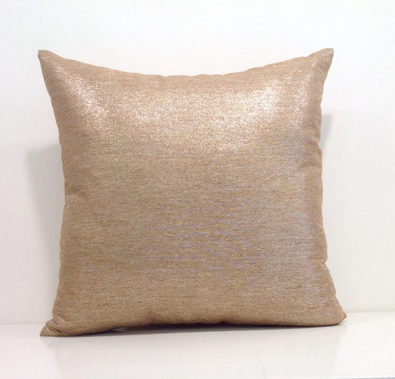 gold sofa throw pillows cream and cushions metallic pillow cover covers 18x18