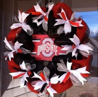 Ohio State Wreath OSU Wreath Buckeye Wreath Red by ...
