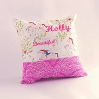 Girls cushion Riding Wild Horses decorative pillow by ...