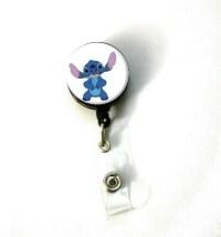 Disney Lilo & Stitch B ID Name Holder Badge Reel Clip On