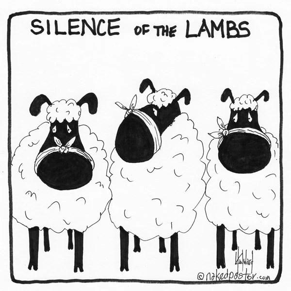 Items similar to Silence of the Lambs CARTOON on Etsy