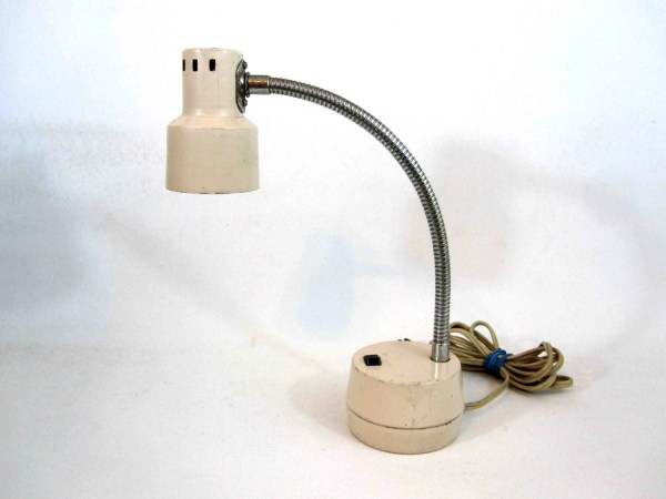 Vintage Hamilton Tensor Style Desk Lamp In Cream