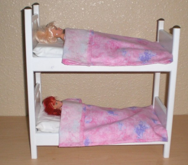White Bunk Bed Barbie Size Doll Judy Illi Crafts