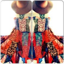 Boho Chic Hippie Patchwork Sundress Bohemian