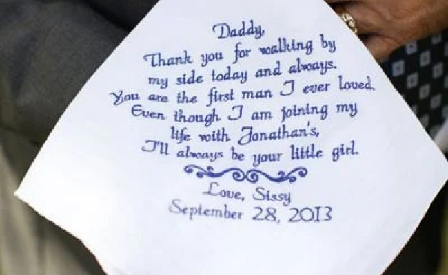 Gift For Dad Wedding Gifts Embroidered Wedding By