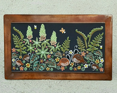 Floral garden mosaic outd...