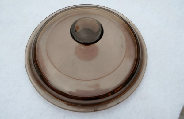 Pyrex Corning Visionware Amber Glass Lid Vintage Replacement