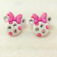 Minnie Mouse Earrings Minnie Mouse Jewelry Disney Earrings