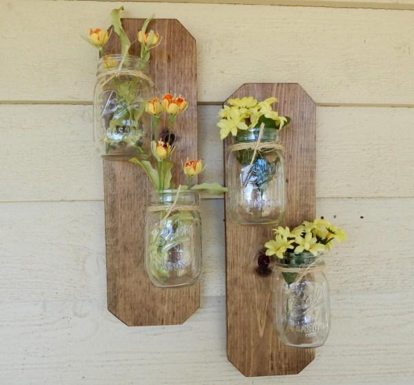 rustic mason jar wall decor mason jar decor. Wall decor. Home accents. Rustic wood Wood