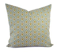 Orange Green and Blue Decorative Pillow Covers Two Geometric
