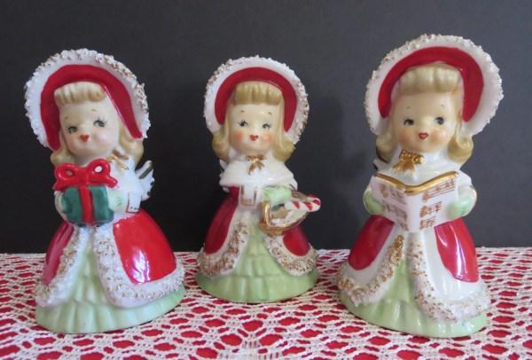 Vintage 1950' Lefton Christmas Angel Bells Set
