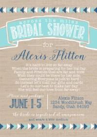Long Distance Bridal Shower aztec Bridal Shower From Afar
