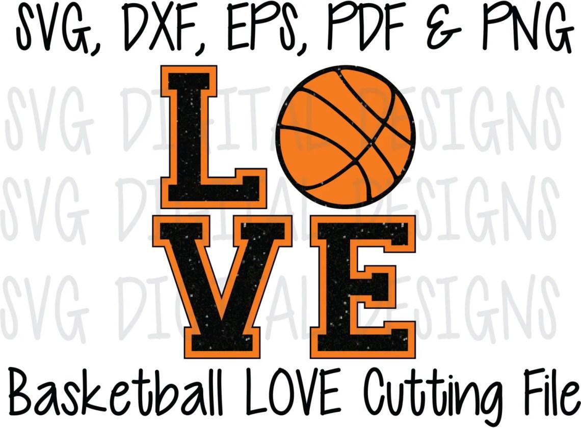 Download Basketball SVG, Basketball Love Cut File Design, Sports ...