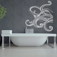Large Kraken Octopus Tentacles Vinyl Wall Decal by HomyVinyl