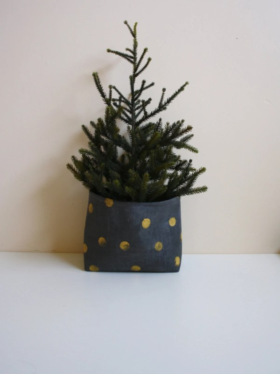 Items similar to Christmas Tree Planter Modern Storage
