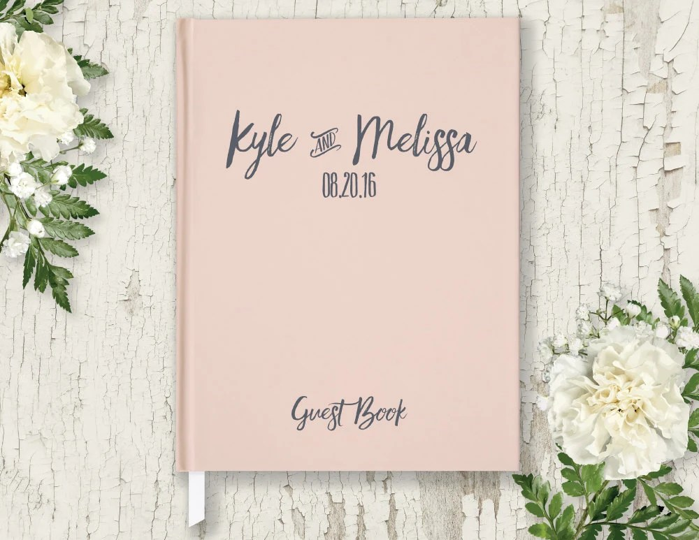 Wedding Guest Book Personalized Wedding by WillowAndOlive