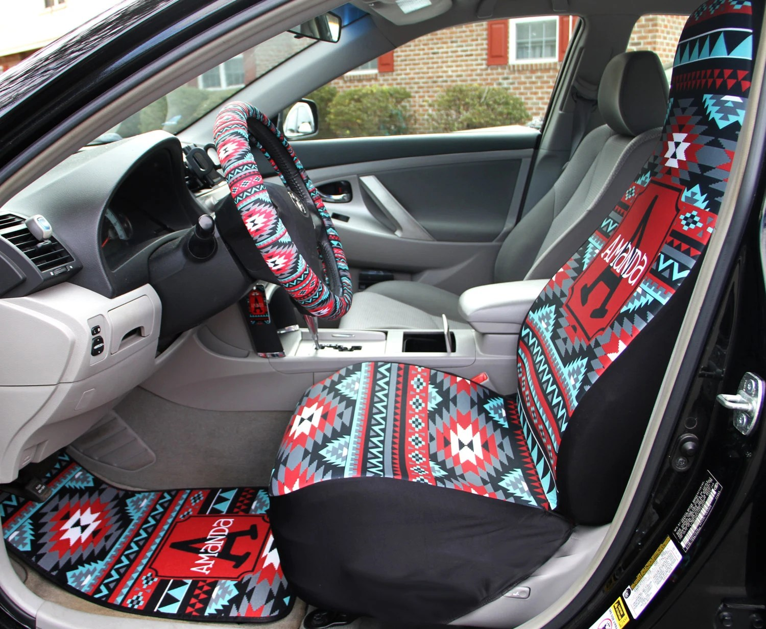 cover chair seat car storm trooper aztec covers set of two front tribal