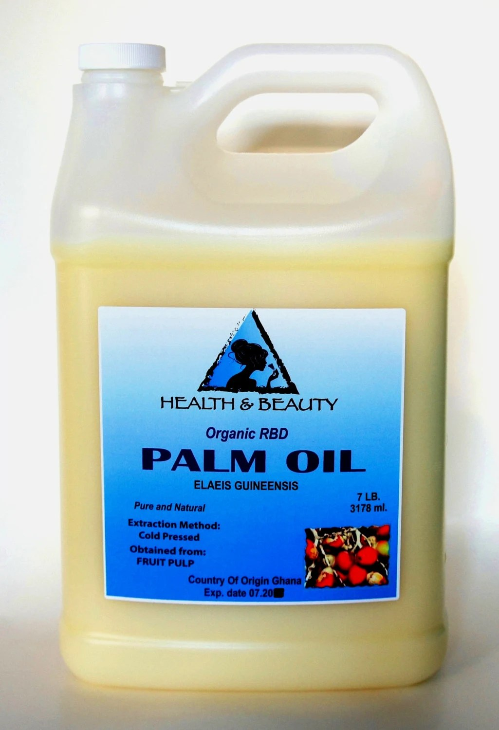7 Lb 1 gal PALM OIL RBD Organic Carrier Cold Pressed Pure