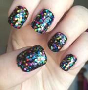 rainbow holographic nail polish
