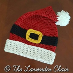 Crochet Christmas Chair Covers Amish Made Adirondack Chairs From Ohio Santa Hat Pattern Pdf Download Only Instant