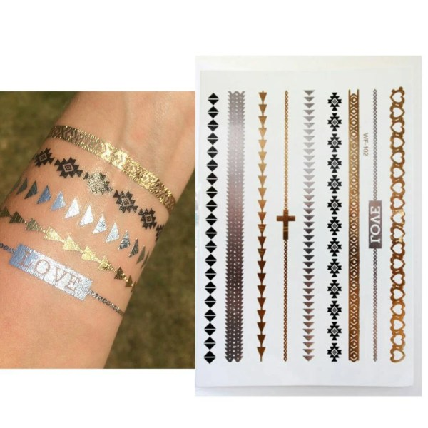 20 Temporary Gold Tattoos Armband Ideas And Designs