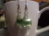 See green earrings | Etsy