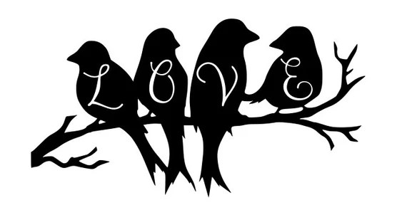 Download Love Birds SVG/DXF file