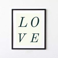 Love Typography Wall Art. Simple and contemporary. by ...