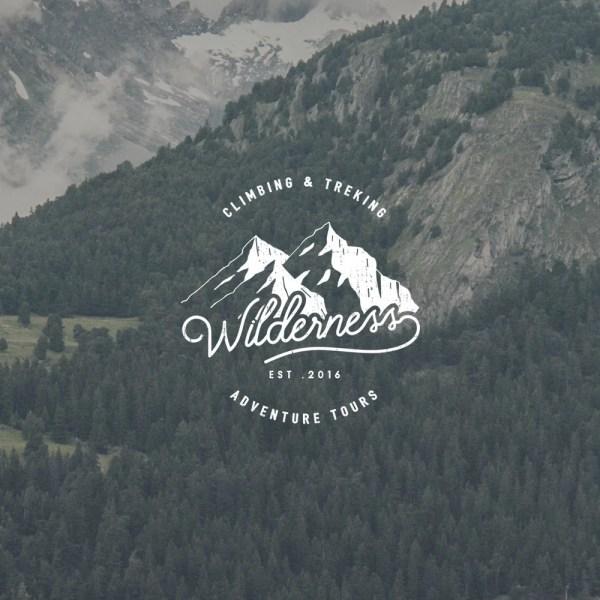 Hipster Mountain Logo
