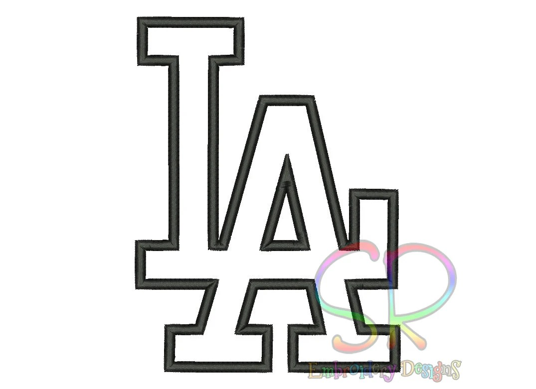 9 Size Los Angeles Dodgers Appliqué Embroidery Designs