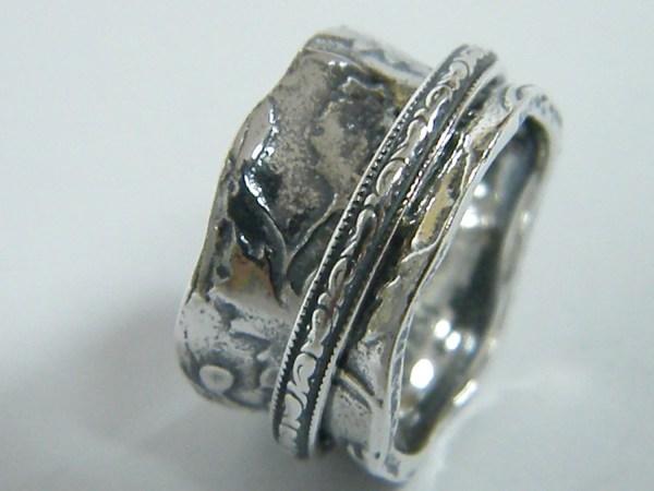 Meditation Ring Spinner Silver Sterling