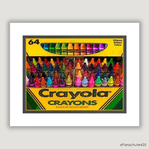 Unique Wall Art Crayola Crayons unique home decor by
