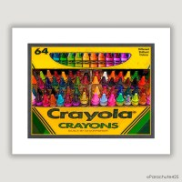 Unique Wall Art Crayola Crayons unique home decor by