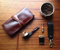 Pipe Roll Pipe Bag Sorringowl & Sons Tobacco Pipe Pouch
