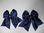 pair of anime bows large navy
