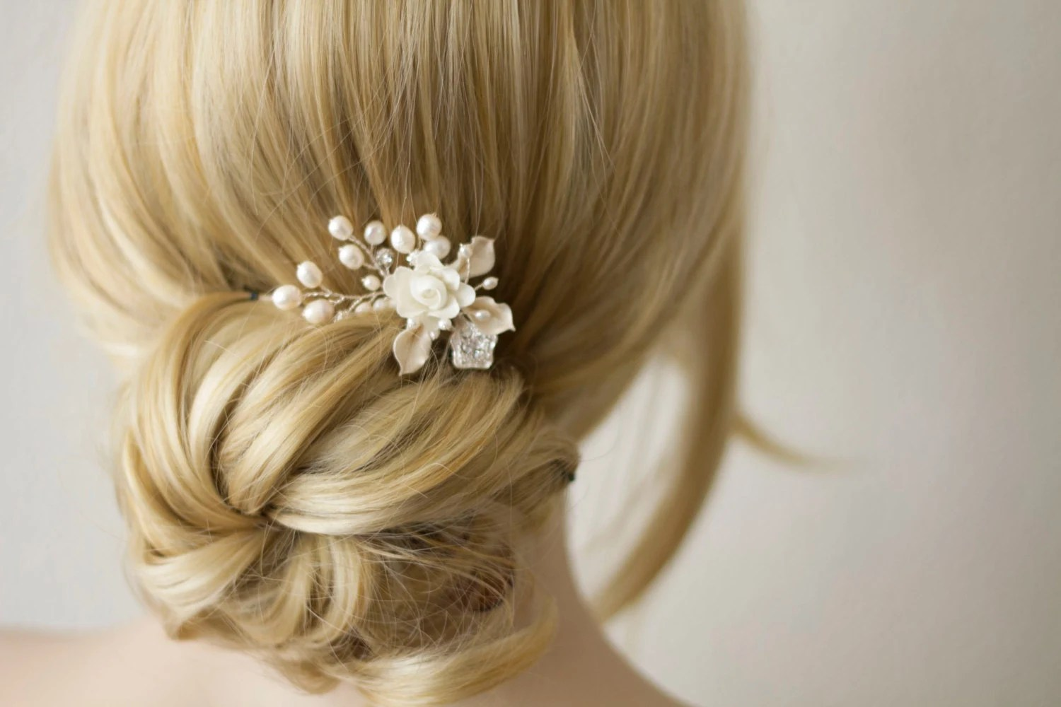 Bridal Hair Comb. Wedding Decorative Combs. Silk Flower And
