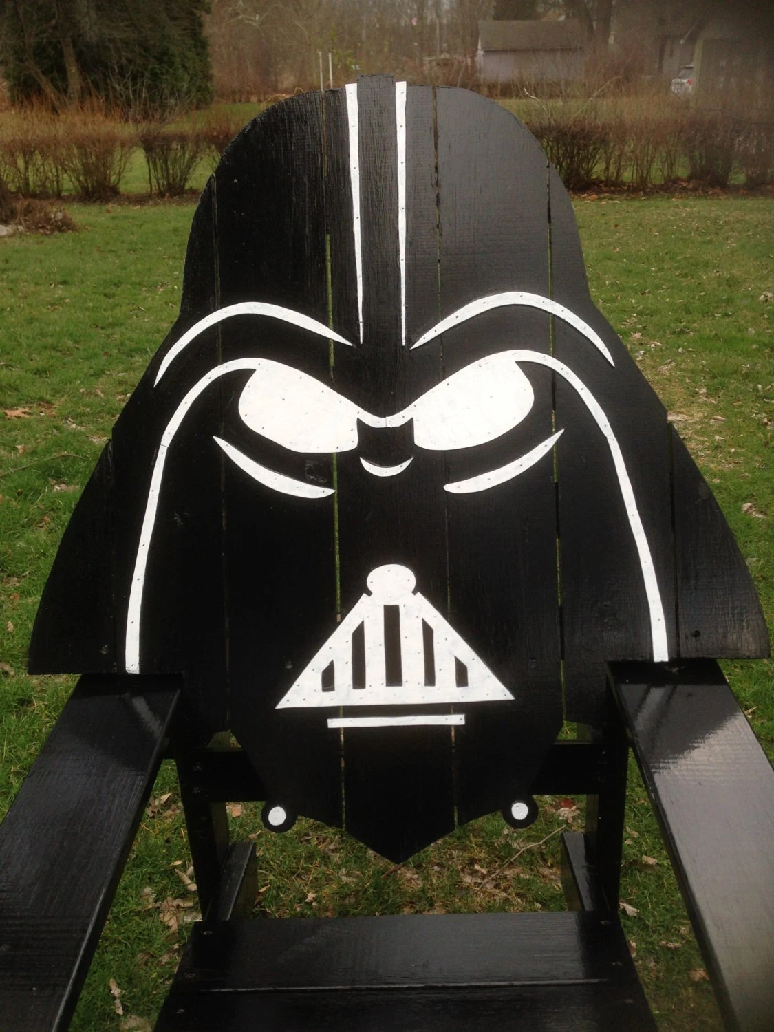 Star Wars Chairs Darth Vader Adirondack Chair Painted Version Star Wars By
